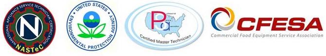 Appliance repair certifications.